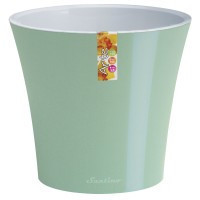 Горшок дренажный для растений Santino Arte Ментол-белый 2 л