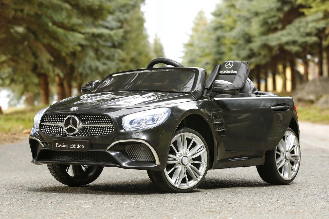 Детский электромобиль Mercedes SL400 + резиновые EVA колеса + кожа сидение + 2 мотора по 45 Ватт