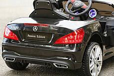 Детский электромобиль Mercedes SL400 + резиновые EVA колеса + кожа сидение + 2 мотора по 45 Ватт, фото 2