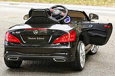Детский электромобиль Mercedes SL400 + резиновые EVA колеса + кожа сидение + 2 мотора по 45 Ватт, фото 3