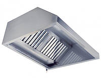 Зонт вытяжной нерж.сталь с жироулавливающим фильтром 600*800