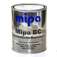 Авто краска (автоэмаль) металлик Mipa BC 1л Toyota 202 (черный под лак)