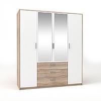 Шкаф 4D3S (с 2-ма зеркалами) Рико / Rico, фото 1