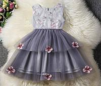 Платье детское нарядное пишное праздничное 80, 90, 100, 110, 120, 125 сукня дитяча святкова на свято