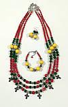 Комплект етнічних прикрас Україночка, натуральный камень, тм Satori \ Sn - 0057, фото 6