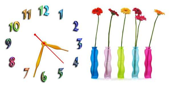 Часы настенные N 2, 30х60 для кухни, гостиной, детской, спальни. Подарок