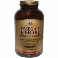 Рыбий жир в Капсулах, Концетрат, Omega-3 Fish Oil Concentate, Solgar, 240 желатиновых капсул