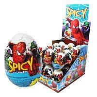 Шоколадное яйцо Человек Паук 25 гр с сюрпризом 24шт в блоке 144 шт в ящ