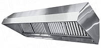 Зонт вытяжной островной нержавеющая сталь с жироулавливающим фильтром 800*600