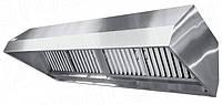 Зонт вытяжной островной нержавеющая сталь с жироулавливающим фильтром 800*700