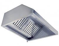 Островной вытяжной зонт, пристенный из нержавеющей стали для кухни  с жироулавливающим фильтром 1200*600