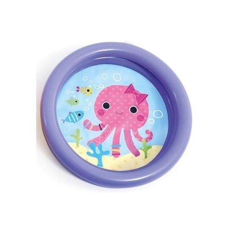 Детский надувной бассейн осьминог 61х15см Intex 59409 фиолетовый