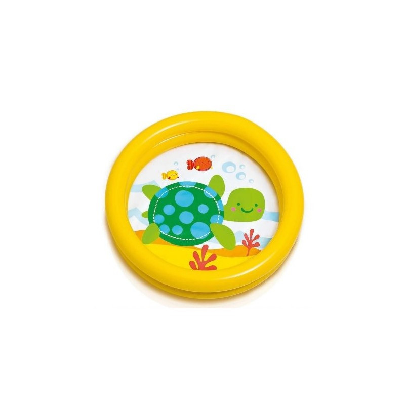 Детский надувной бассейн черепаха 61х15см Intex 59409 желтый