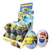 Шоколадное яйцо Миньоны 25 гр с сюрпризом 24шт в блоке 144 шт в ящ