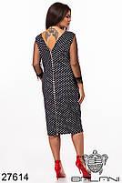 Грайливий чорне плаття в горошок з мереживами і блискавкою по спинці з 48 по 62 розмір, фото 3