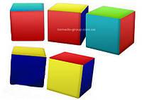 Детские мягкие кубики - пуфики