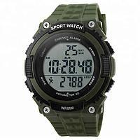 Skmei 1112 fitness зеленые мужские спортивные часы с шагомером