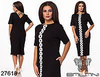 Оригинальное платье с V-образным вырезом на спине и кружевным декором с 48 по 62 размер, фото 1