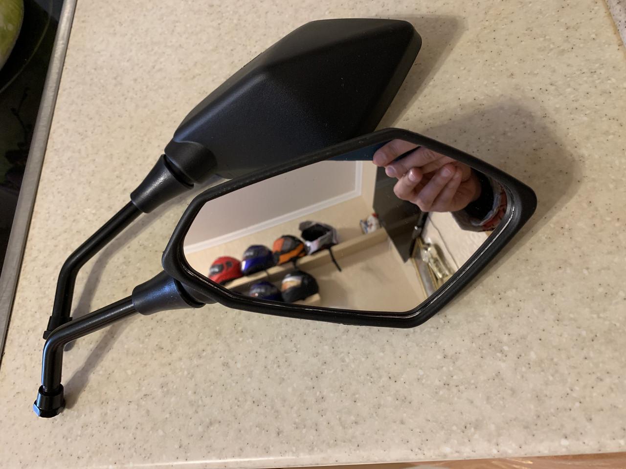 Мото зеркала на Руль в резьбу на стрит мото