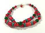 Колье + браслет -  украшения в украинском стиле, натуральный камень, тм Satori \ Sn - 0062, фото 2