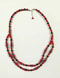 Колье + браслет -  украшения в украинском стиле, натуральный камень, тм Satori \ Sn - 0062, фото 3