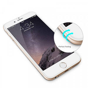 Защитное стекло 3D Rinco for iPhone 6 white
