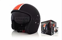 Шлем открытый BILTEMA (№82‑063, L) Black mat