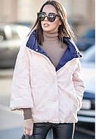 Женская двухсторонняя куртка с мехом, фото 1
