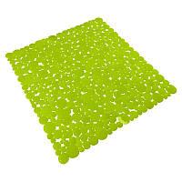 Коврик в ванную комнату Bathlux Green Leaves 40262 антискользящий резиновый 53х53 см R132569