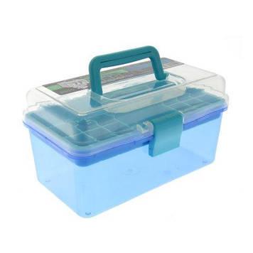 Пластиковий чемодан для зберігання і транспортування інструментів, blue BX-03