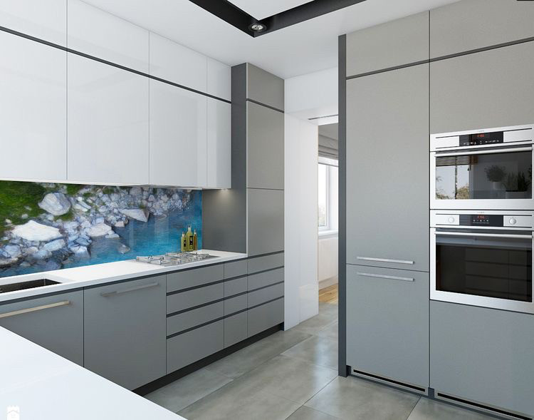 Кухня на заказ в стиле минимализм Blum furniture