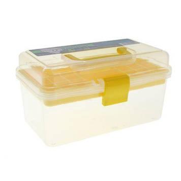 Пластиковий чемодан для зберігання і транспортування інструментів, yellow BX-02
