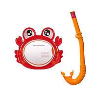 Набор для плавания маска + трубка Intex 55904 Крабик гипоалергенный Красный, фото 1