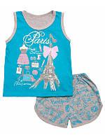 Пижама домашний комплект для девочки летний