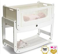 Приставная кроватка люлька для новорожденных (цвет Eco White), Snuz Pod