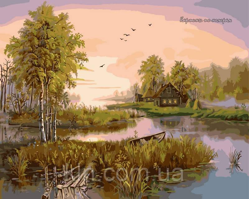 Картина по номерам Babylon Лесное озеро VP185 40 х 50 см