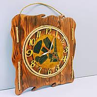 """Часы настенные """"Жизель"""" из искусственно состаренного натурального дерева. Уникальная авторская ручная работа"""