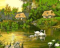 Картина по номерам Babylon Лебединая семья VP195 40 х 50, фото 1