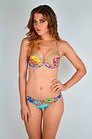 Цветной женский купальник, слип Jolidon F 2255 A 44C Голубой Jolidon F 2255 A