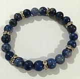 Браслет Лазуритовый из натурального камня, цвет синий и его оттенки, тм Satori \ Sb - 0065, фото 2