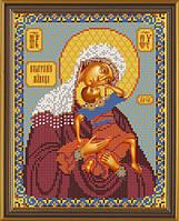 Набор для вышивки бисером Богородица «Взыграние младенца» С 9042