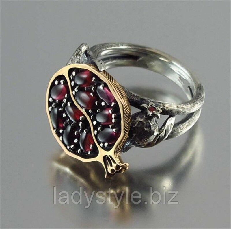 """Оригинальное кольцо  """"Гранат"""", размеры  20 от студии  LadyStyle.Biz"""