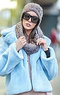 Модный женский комплект из букле шапка+хомут , фото 1
