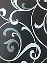 """Простынь на резинке 120х200 см """"Белые вензеля на черном фоне"""" in Luxury™ 32035, фото 2"""