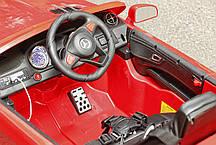 Детский электромобиль Mercedes SL400 белый + резиновые EVA колеса + кожа сидение + 2 мотора по 45 Ватт, фото 3