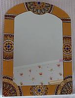 """Зеркало ручной работы """"Золото и сапфиры"""""""