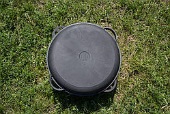 Казан чугунный азиатский 12л с крышкой-сковородкой, d 400мм, фото 3