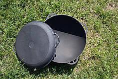 Казан чугунный азиатский 12л с крышкой-сковородкой, d 400мм, фото 2