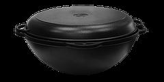 Казан чавунний азіатський 12л з кришкою-сковорідкою, d 400мм, фото 3
