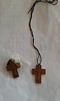 Крест кожаный нательный